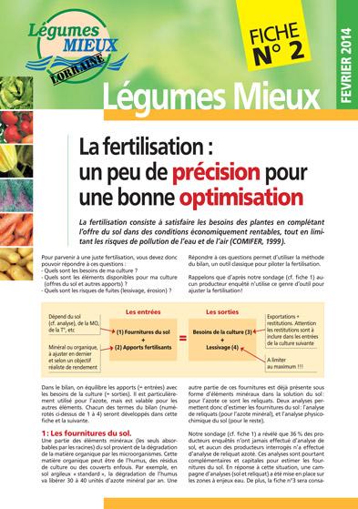 Fiche Légumes Lorraine n°2